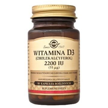 SOLGAR witamina D3 2200 IU 50 s.+ BERIMAL gratis!