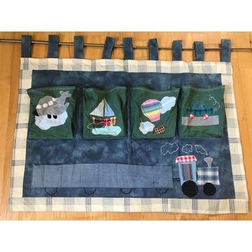 Makatka z kieszeniami pokój dziecka patchwork