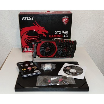 MSI GTX 960 GAMING 4GB OC Komplet! +dostawa GRATIS