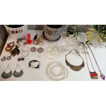 Zestaw biżuterii Parfois i inne