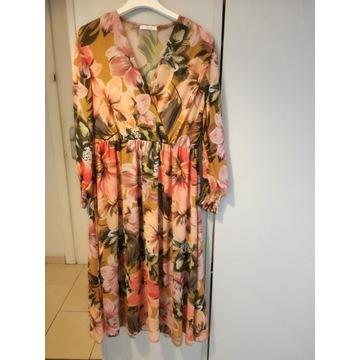 Sukienka letnia z długim rękawem