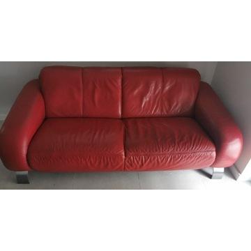 Skórzana czerwona kanapa