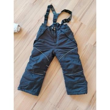 Spodnie narciarskie ocieplane zima r.116 szaokazja