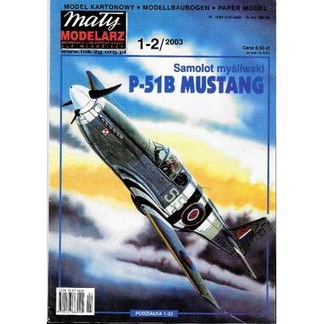 Mały Modelarz 1-2 2003 P-51 MUSTANG model 1:33 ory
