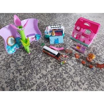 Zestaw zabawek dla dziewczynki domki autko