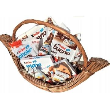 Kosz słodyczy Kinder koszyk prezentowy