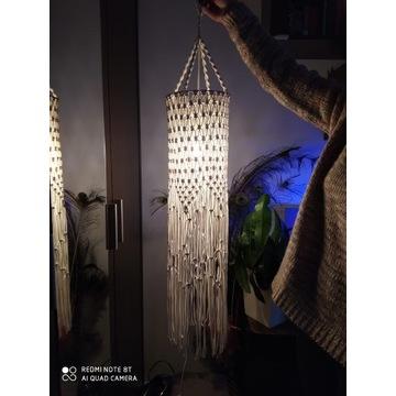 Lampa makrama W stylu boho