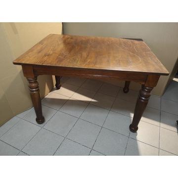 Stół drewniany z możliwością rozłożenia - antyk