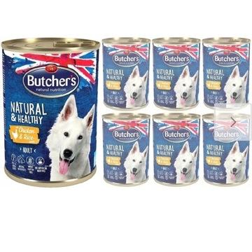 BUTCHER'S Natural Healthy kurczak 24x390g Tanio!