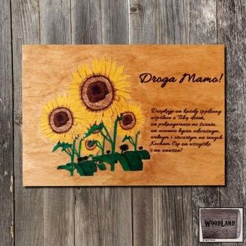 Tabliczka z życzeniami na Dzień Mamy WoodLand