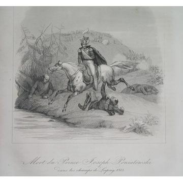 1836 ORYGINAŁ książę PONIATOWSKI śmierć NAPOLEON