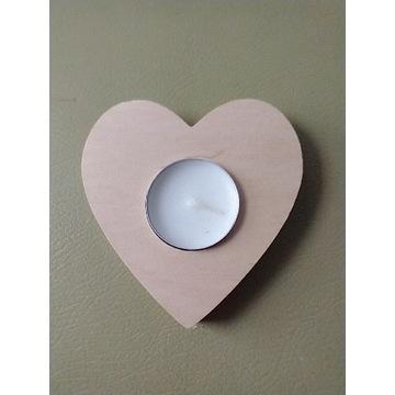 świecznik serce 10 cm T-Light