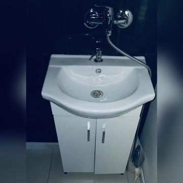 Zlew z szafką wc łazienka
