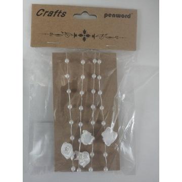 Sznurek perłowy 1m Różne Wzorów