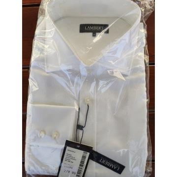 Biała koszula męska LAMBERT 45/188 - 194 NOWA