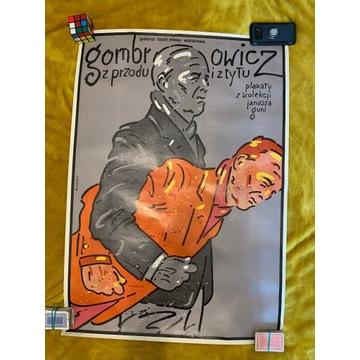 Plakat Gombrowicz Z przodu i z tyłu; Świerzy(1984)