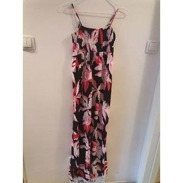 Długa letnia sukienka M H&M mama