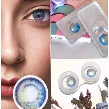 Soczewki kolor Roczne naturalne ziel - błękit lens