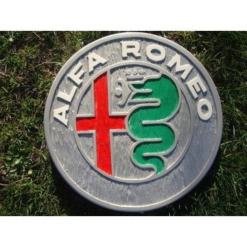 ALFA ROMEO Ręcznie rzeźbione logo w drewnie UNIKAT