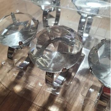 Obrączki na serwetki - kryształ kpl. 8 sztuk.