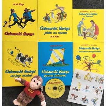 Ciekawski George - zestaw z maskotką