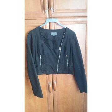Krótka bluza kurtka asymetryczna bawełna Reserved