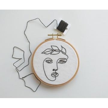 HAFT-  tamborek obraz twarz kobiety