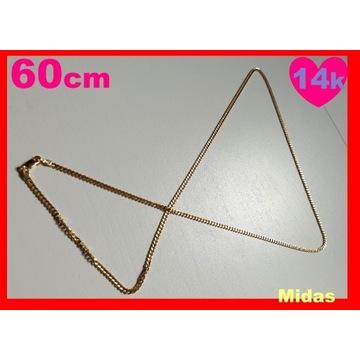 Łańcuszek Złoty 14k łańcuch 60cm złoto 585 MIDAS