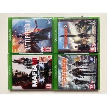 The Division 1, 2, Mafia 3, Battlefield 1 Xbox one