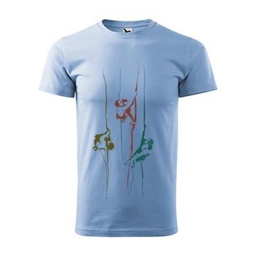Koszulka męska z motywem wspinaczkowym M błękit