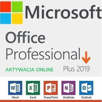 MICROSOFT OFFICE 2019 PRO POLSKI PRODUKT Klucz