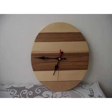 zegar ścienny drewniany