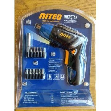 Wkrętak akumulatorowy z bitami Niteo Tools 3,6V