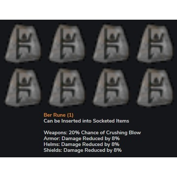 Runa BER - Diablo 2 LOD NOWY LADDER