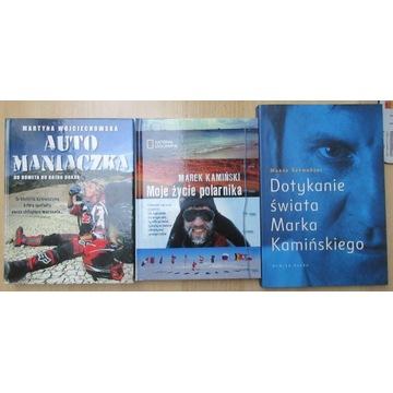 3 książki podróżnicze Moje życie polarnikaKamiński