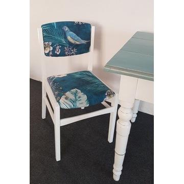 krzesło  PRL vintage odnowione po renowacji