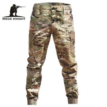 Spodnie męskie joggery bojówki wojskowe camo XL