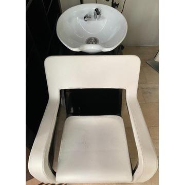 Myjka fryzjerska z fotelem  designed by Porsche