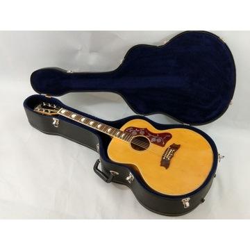 Gitara Akustyczna Duże Jumbo Japonia lata 70 Piękn