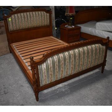 Dębowe tapicerowane łóżko ludwikowskie ludwik XVI