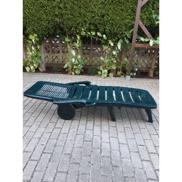 Leżak ogrodowy składany regulowane oparcie