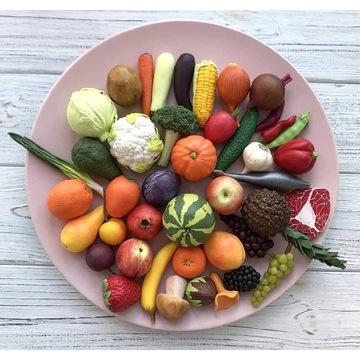 Warzywa i owoce z polimerowej gliny