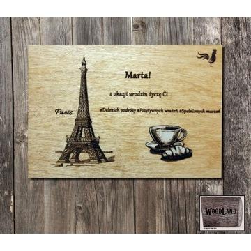 Tabliczka okolicznościowa WoodLand - Paryż