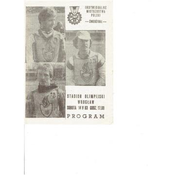 IMP 1983 r cwiercfinał Wrocław