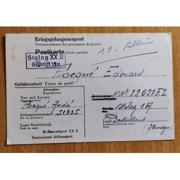 Korespondencja Stalag XX B