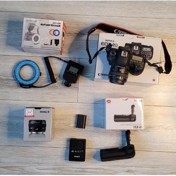 Canon Eos 6d Mark + grip + Led ring + obiektyw 50