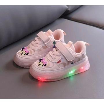 Adidasy trampki dziecko mickey LED roz od 21 do 30