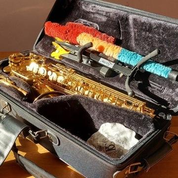 Saksofon altowy Yamaha 62-02 jak nowy cały komplet