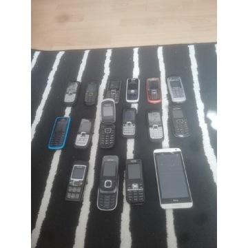 Zestaw działających telefonów BCM