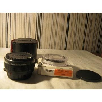 Kpl filtr polarazacyj,TELEKONWER Vivitar 2*-21-OLY